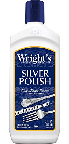 Wright's Silver Cleaner and Polish - 7 Ounce - Ammonia Free - Gently Clean and Remove Tarnish Without Scratching