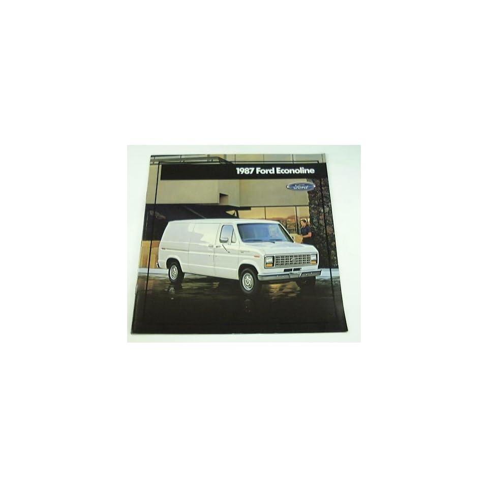 1987 87 Ford ECONOLINE Van BROCHURE E150 E250 E350 XL