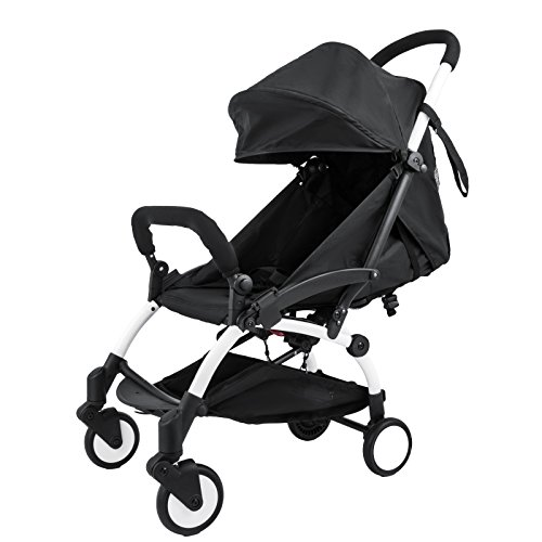 VEVOR 2 in 1 Portable Baby Stroller Lightweight Folding Stroller for 6 Month and Up to 15KG Baby Travel System Mini Infant Carriage Folding Pushchair Small Foldable Stroller (Lightweight, 2in1)
