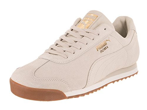 Puma White Shoes (PUMA Men's Roma Natural Warmth Sneaker, Birch-Whisper White, 11 M US)