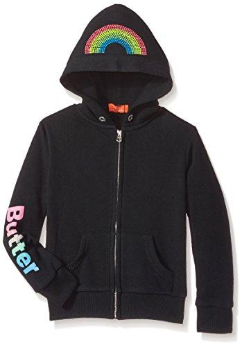 Butter girls Fleece Zip Up Hoodie (More Styles Available) black, 4