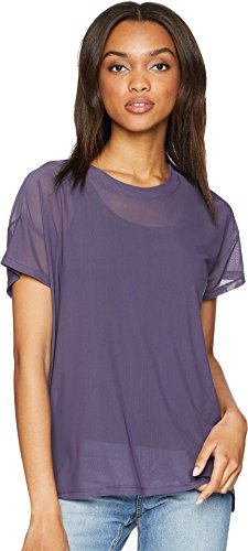 UNIONBAY Women's Fine Mesh Top, Grape Ice, Medium by UNIONBAY (Image #3)