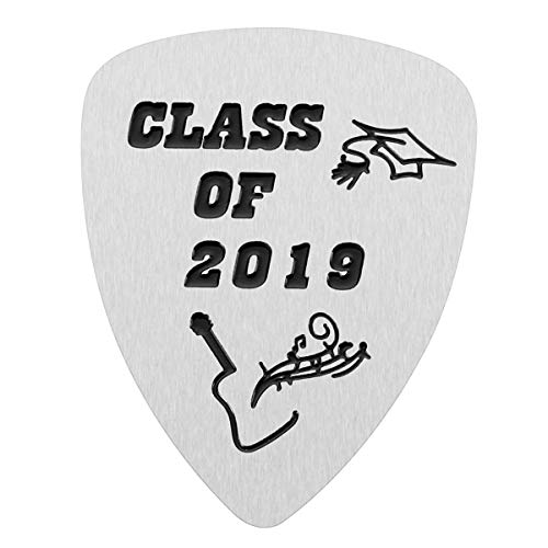 Graduation Gift - Stainless Steel Class of 2019 Guitar Pick for Graduates Musician Gifts
