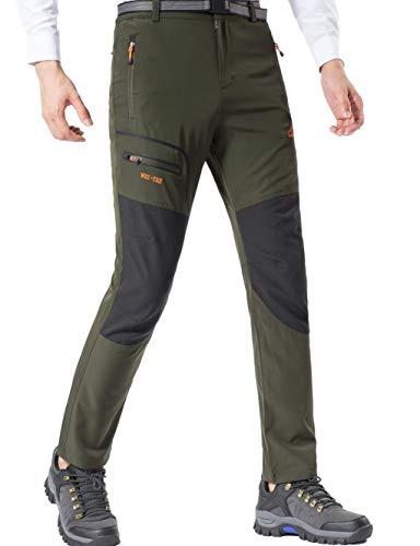 🥇 DAFENP Pantalones Trekking Hombre Impermeable Pantalones de Escalada Senderismo Alpinismo Ligero Secado Rápido Transpirable Aire Libre