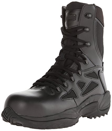 Response 8 Inch Side Zipper (Reebok Work Men's Rapid Response RB8874 Safety Boot,Black,13 M US)