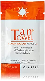 Tan Towel Half Body Towelettes, Classic, 0.29 lb.