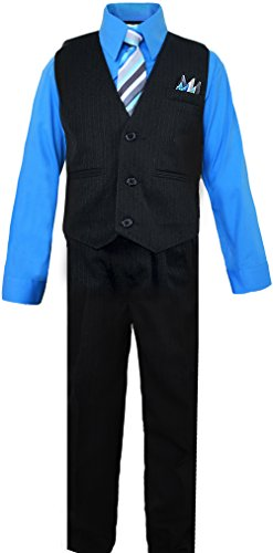 Boys Blue Vest Dress Suit Size 7 Buy Online In Uae