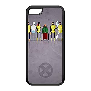 8Bit - Marvel Xmen Original Black Silicon Rubber Case for iPhone 5C by DevilleArt + FREE Crystal Clear Screen Protector