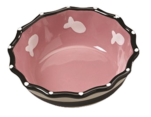 Ethical Products Glossy Stoneware pet dish - Hygienic and easy to clean - Contemporary Ruffle Dish for ()