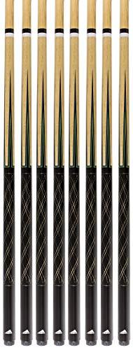 Set of 8 Mizerak Two-Piece Pool Cues Billiards - Cue Billiard Stick Pool