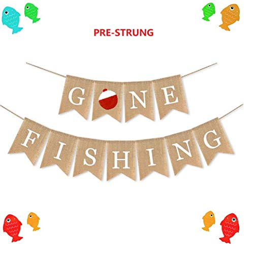 Fishing Baby Shower Invitations (E&L Gone Fishing Banner, Fishing Party Supplies, The Birthday Party Decorations--No Self-Assembly)