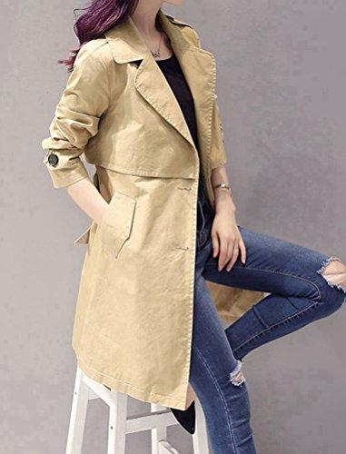 Mujer Color Todo Caqui De El 5 Abrigo wIaXnq