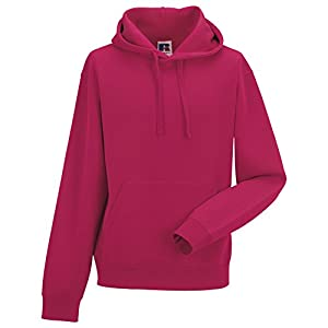 Russell Mens Authentic Hooded Sweatshirt / Hoodie (XXL) (Fuchsia)