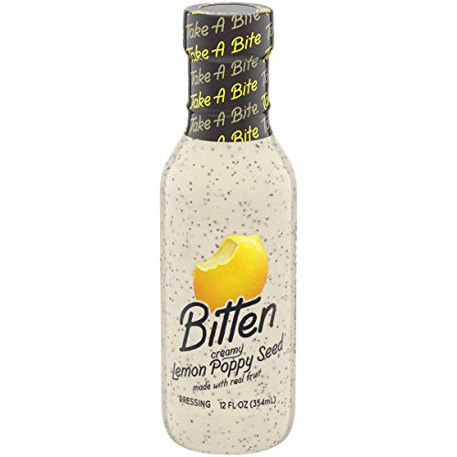 Bitten Salad Dressing Lemon Poppy Seed, 12 fl oz