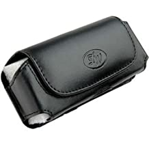 Leather Horizontal Belt Clip Case Pouch for Samsung Rugby 3 SGH-A997 NEW!