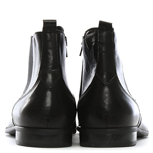 Black Roman Boots Chelsea Leather Rock Leather Black RPwqXTB