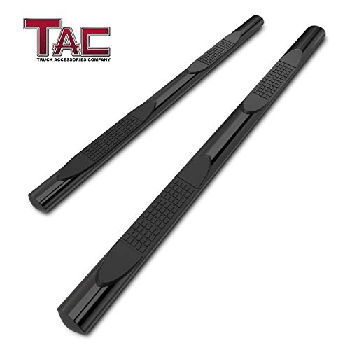 TAC Side Steps Fit 2009-2018 Dodge Ram 1500 Quad Cab 4 inches Oval Black Side Bars Nerf Bars Step Rails Running Boards Off Road Exterior Accessories (2 Pieces Running Boards)