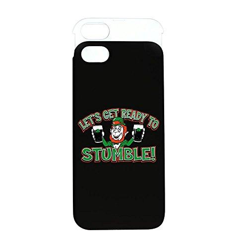 iPhone 5 or 5S Wallet Case Black and White Ready To Stumble Irish Shamrocks
