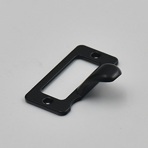10 Pcs Home Cabinet Frame Handle Drawer Label Tag Pull File Name Card Holder Screw SizeC Black