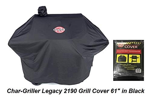 Char-Griller Legacy 2190 Grill Cover 61″ in Black Charcoal Grill Cover