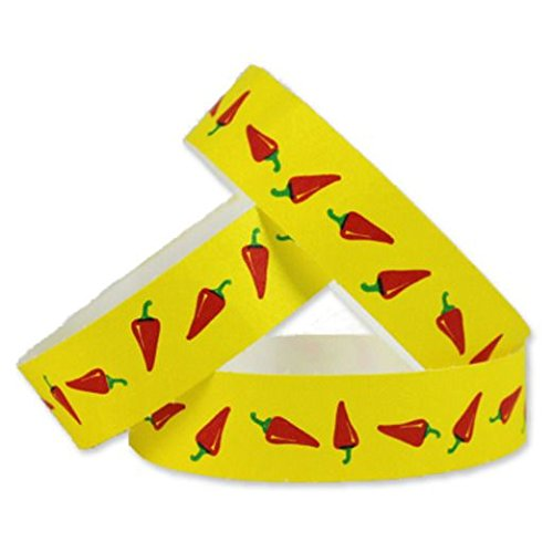 Tyvek Wristbands Chili Peppers (Precision Dynamics Band)