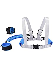 (Blue) - Blisstime Baby Safety Walking Harness Design with Lock, Baby Harness for Walking Design with Lock, Toddler Harness Safety Leashes, Anti Lost Wrist Link for Toddlers (2018)