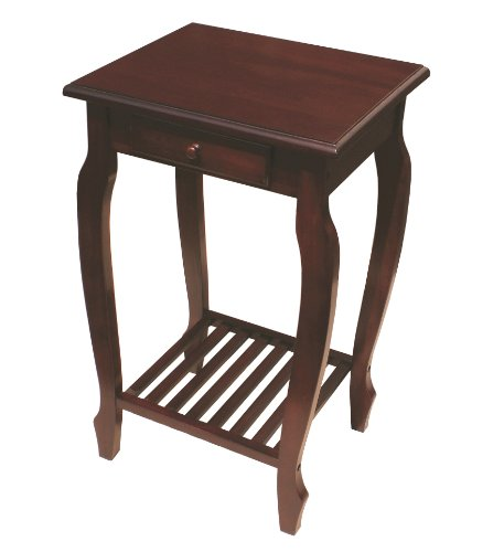 - D-ART COLLECTION Mahogany Carolina Table with Drawer