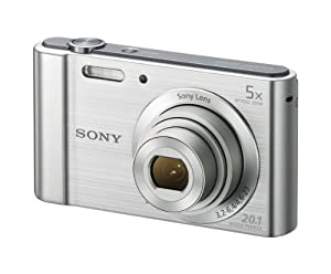 Sony (DSCW800) 20.1 MP Digital Camera (Silver) by Sony
