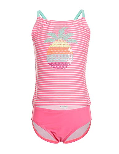 LEINASEN Two Piece Bathing Suits for Girls, Cute Pineapple Beach Tankini Swimsuits for Kids (Cute Tankini Swimsuits)