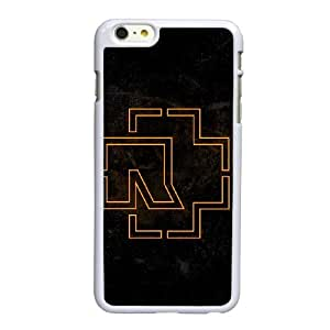 Rammstein Logo caso 6S 6 4.7 pufunda LGadas funda iPhone B5S43T2TY funda 54PBJ5 blanco