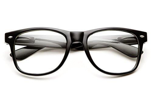 [Computer Glasses Eye Strain Relief - Clear Lens Wayfarer Reading Glasses Women - Blue Light Blocking Glasses for Sleep - Gaming Glasses for Eye Protection - Nerd Glasses for Men - Anti Glare -] (Geek Chic Glasses)