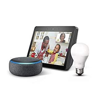 Echo Show (2nd Gen) Charcoal Bundle with free Echo Dot Charcoal and Philips Hue Bulb (B07SRXZRN9) | Amazon price tracker / tracking, Amazon price history charts, Amazon price watches, Amazon price drop alerts