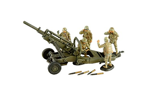 Toxso Model 1/72 M102 105mm Howitzer +5 Crew Model -