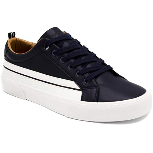 - Nautica Men's Casual Lace-Up Fashion Sneakers Oxford Comfortable Walking Shoe-Calliope Smooth, Navy White Stripe, 10 M US