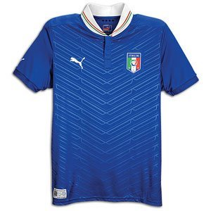 Puma Italy Home Jersey 2012 (Royal/White, AS) by PUMA