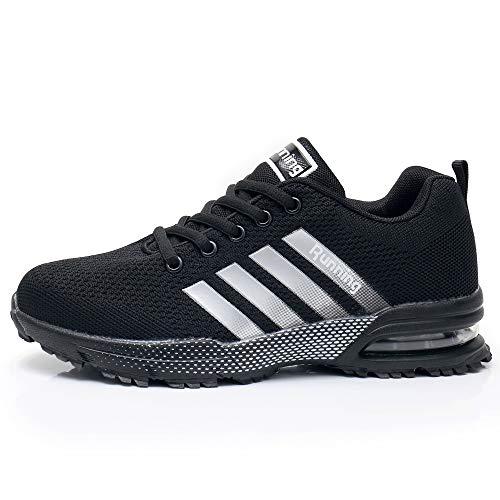 Impdoo Womens Air Cushion Running Tennis Shoes Fashion Breathable Casual Walking Sneakers US5.5-10 B M