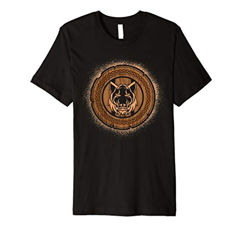 , Norse Mythology Valknut Premium T-Shirt