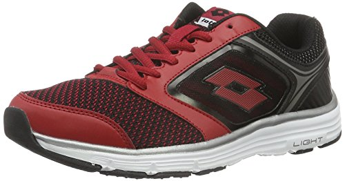 Lotto Everide Iii Amf, Zapatillas de Running para Hombre Rojo / Negro (Red Rsp / Blk)