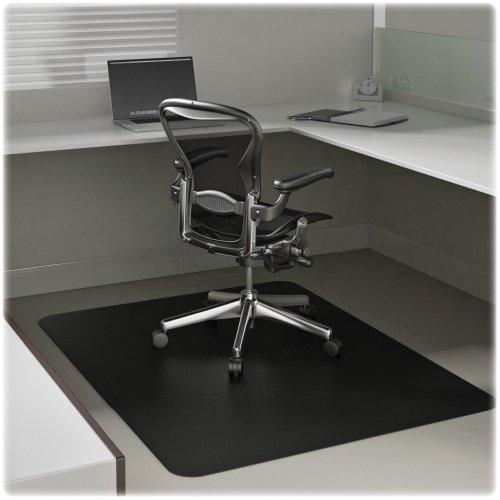 Deflecto CM11242BLK Rectangular Chairmat, Low Pile, 45''x53'', Black by Deflecto Corporation