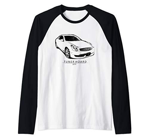 (G35 JDM Drift Car T-shirt Fast 350GT Track & Street Race 350 Raglan Baseball Tee)