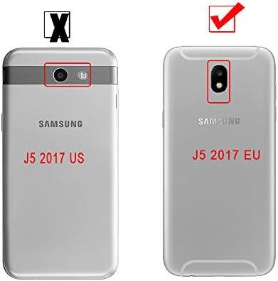 Funda Samsung Galaxy J5 2017 (J530) Carcasas Cubierta [Cover 360 Grados],Funda Doble Delantera + Trasera Ultra Slim Mate PC Integral Shock Absorción ...
