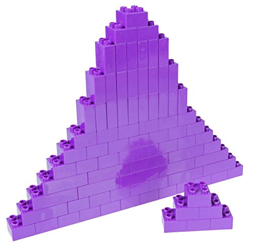 Strictly Briks Classic Big Briks by Building Brick Set 100% Compatible with All Major Brands | 3 Large Block Sizes For Ages 3+ | Premium Lavender Building Bricks | 84 Pieces