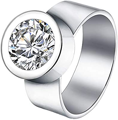 Hawson Interchangeable Ring Stainless Steel Wedding Ring With 4