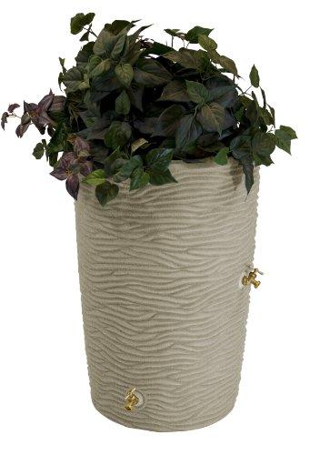 Good Ideas IMP-L50-SAN Impressions Palm Rain Barrel, 50-Gallon, Sandstone