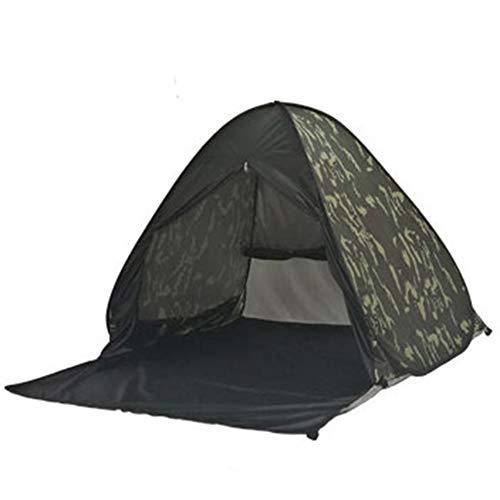 思春期測定ことわざビーチシェードテント、全自動フリーキャンプスピードオープンカモフラージュプリントストライプ (色 : B)
