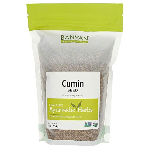 Banyan Botanicals Cumin Whole - Certified Organic, 1 lb - Cuminum cyminum - Common cooking spice that promotes healthy digestion