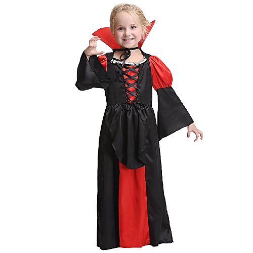 Ytwysj Toddler Baby Kid Girls 2018 Halloween Costumes Vampire Devil Queen Costume Party Cosplay Costume Dress -