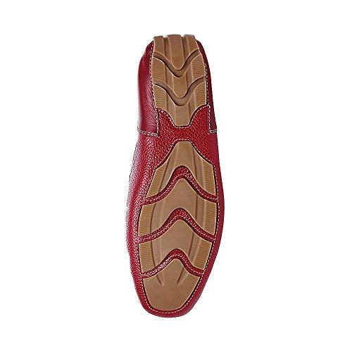 Steve Madden Mens Dune 430 Red Leather URMsnKI