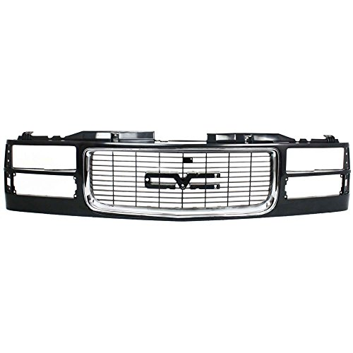 ull Size Pickup 94-02 Suburban 94-99 Cross Bar Chrome Insert Painted-Black W/Composite Headlights ()
