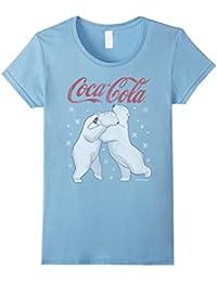 Polar Bear Hug Snowflakes Graphic T-Shirt